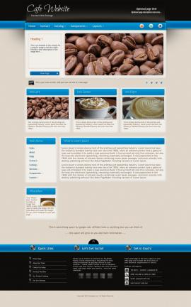 Promotion Cafe Dreamweaver Template