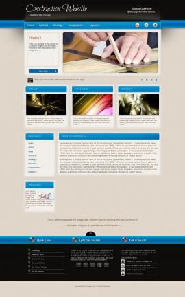 Promotion Construction Website Template