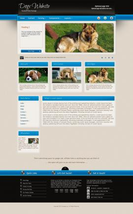 Promotion Dogs Website Template