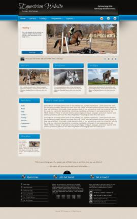 Promotion Equestrian Website Template