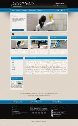 Promotion Janitorial Website Template