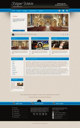 Promotion Religion Web Template