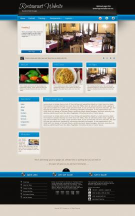 Promotion Restaurant Website Template