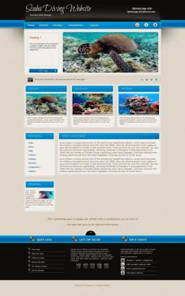 Promotion Scuba-diving Website Template