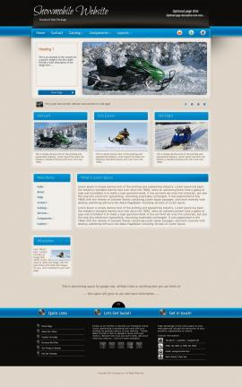 Promotion Snowmobile Website Template
