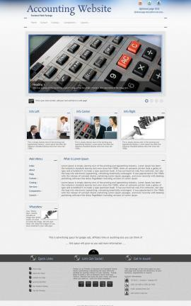 Priority Accounting Website Template