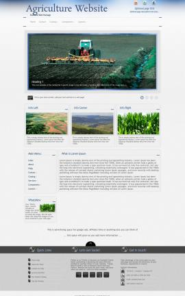 Priority Agriculture Website Template