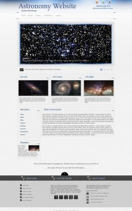 Priority Astronomy Website Template