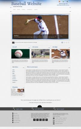 Priority Baseball Website Template