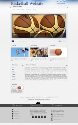 Priority Basketball Website Template