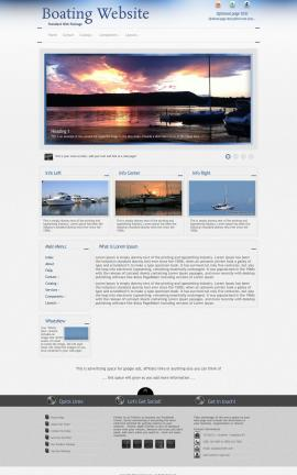 Priority Boating Website Template