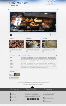 Priority Cafe Website Template