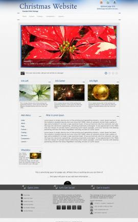 Priority Christmas Website Template
