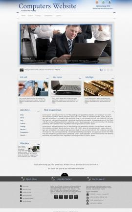 Priority Computers Website Template