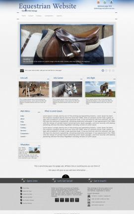 Priority Equestrian Website Template