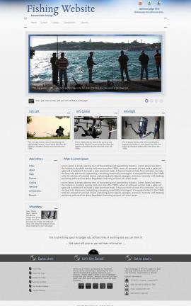 Priority Fishing Website Template