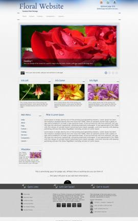 Priority Floral Website Template