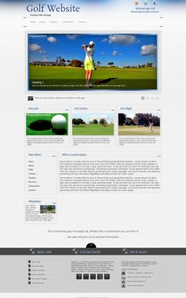 Priority Golf Website Template