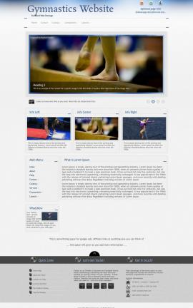 Priority Gymnastics Website Template