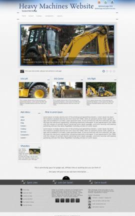 Priority Heavy-machines Website Template