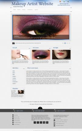 Priority Makeup-artist Website Template
