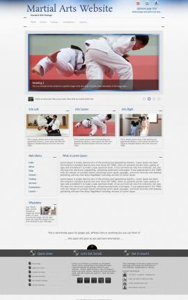 Priority Martial-arts Website Template