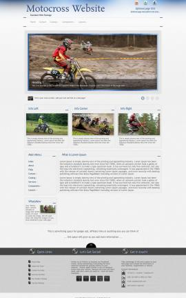 Priority Motocross Website Template