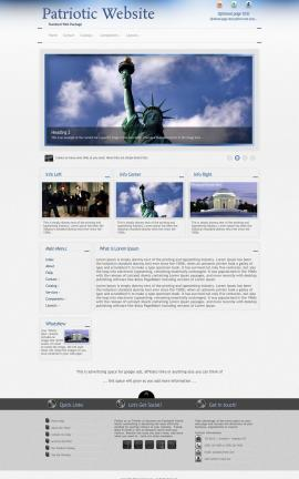 Priority Patriotic Website Template