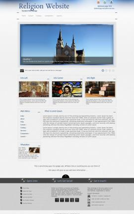 Priority Religion Website Template