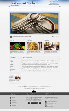 Priority Restaurant Website Template
