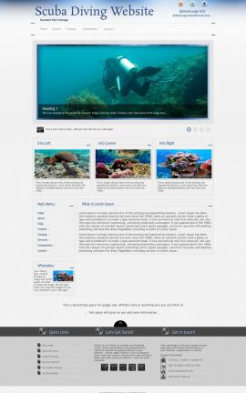 Priority Scuba-diving Website Template
