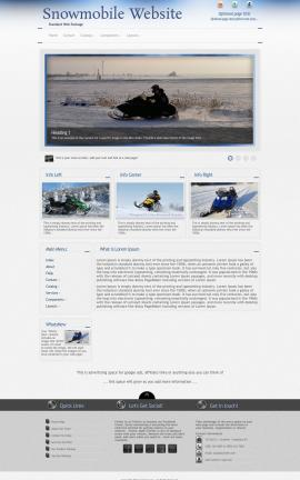 Priority Snowmobile Website Template