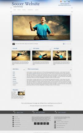 Priority Soccer Website Template