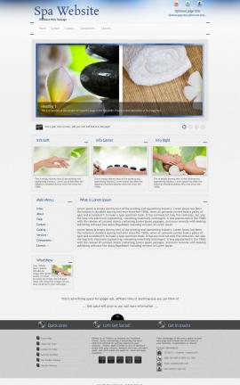 Priority Spa Website Template
