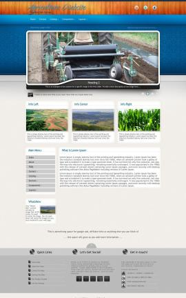 Uptown Agriculture Website Template