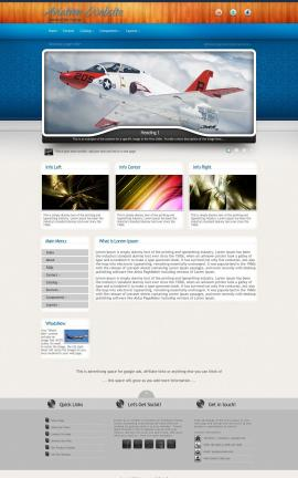Uptown Aviation Dreamweaver Template