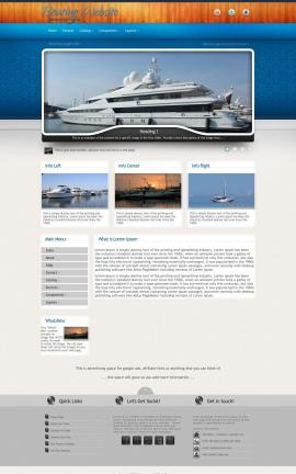 Uptown Boating Dreamweaver Template