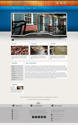 Uptown Cafe Website Template