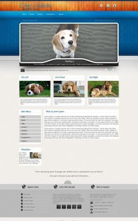 Uptown Dogs Website Template