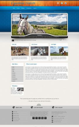 Uptown Equestrian Website Template
