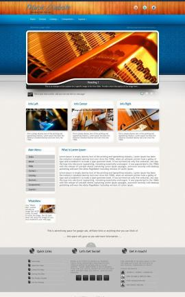 Uptown Music Website Template