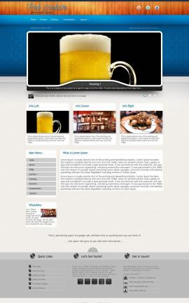 Uptown Pub Website Template