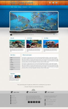 Uptown Scuba-diving Website Template
