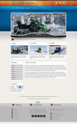 Uptown Snowmobile Website Template