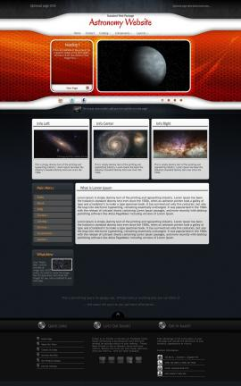 Honeycomb Astronomy Website Template