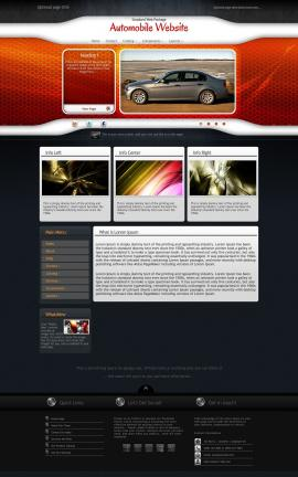 Honeycomb Automobile Website Template