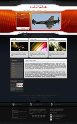 Honeycomb Aviation Dreamweaver Template
