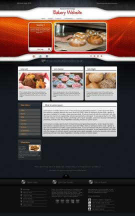 Honeycomb Bakery Website Template