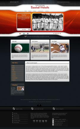 Honeycomb Baseball Website Template