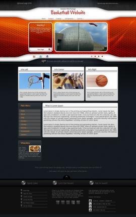 Honeycomb Basketball Website Template